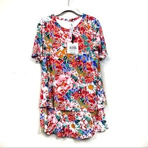 Agnes & Dora Tops - New with tags Agnes & Dora floral tiered tunic s
